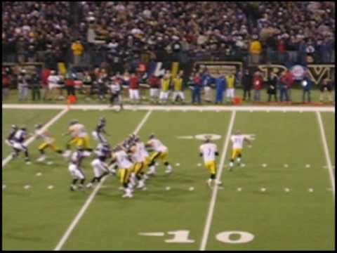 Steelers Game Winning Touchdown vs Baltimore:12/14/08