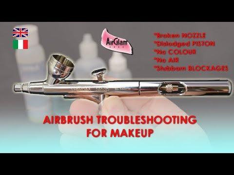 AIRBRUSH MAKEUP TROUBLESHOOTING: HOW TO FIX PROBLEMS / PROBLEMI E SOLUZIONI AEROGRAFO