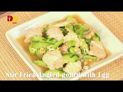 Stir Fried Angled Gourd with Egg   Thai Food   Pad Buab   ผัดบวบ