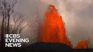 For months, lava exploded and devoured miles of hawaii's big island. a year later, scientists believe it could erupt again in the future. carter evans report...