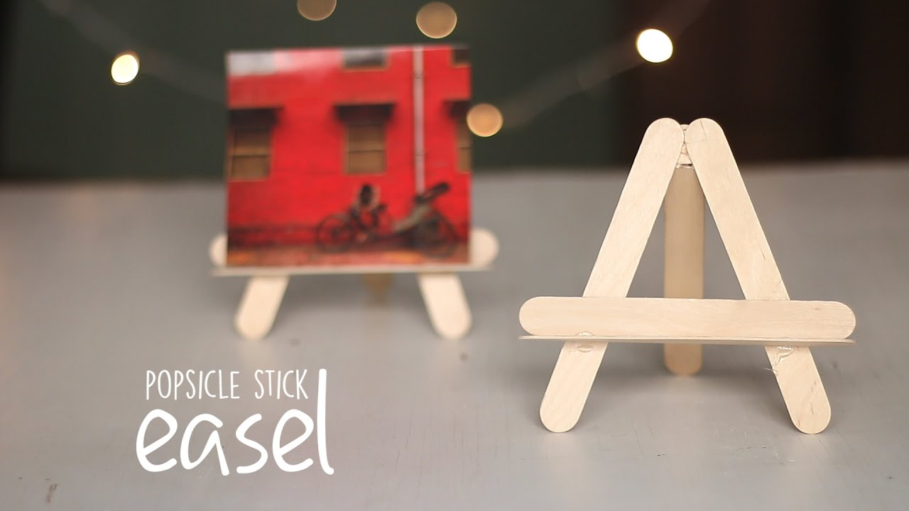 Diy Popsicle Easel Youtube