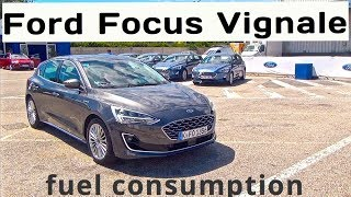 2019 Ford Focus Vignale (150hp) 8sp. auto, fuel consumption
