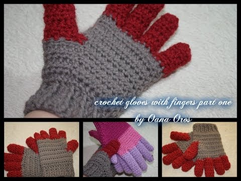 Crocheting Your Fingers : crochet gloves with fingers part one - YouTube
