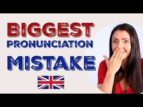 Biggest ENGLISH PRONUNCIATION Mistake & How To Correct It //