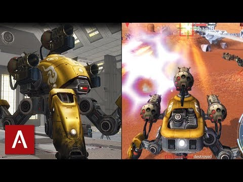 War Robots Gameplay: Fujin with Gold Skin Epic Battle