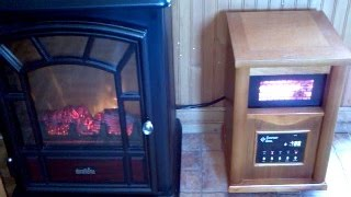 Infrared Space Heater and Duraflame Fireplace Review