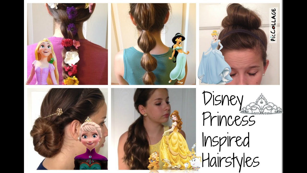disney princess inspired hairstyles - youtube
