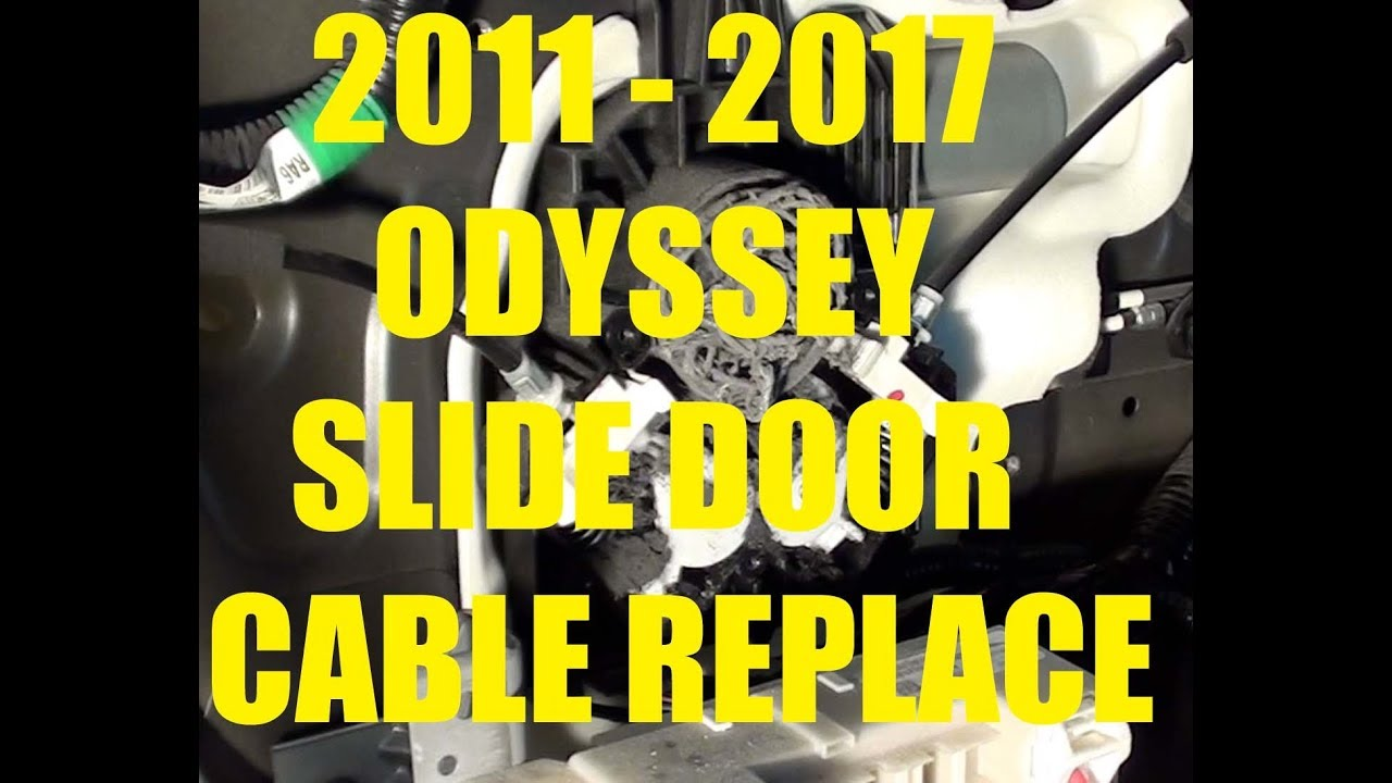 Power Sliding Door Cable Replacement 2011 2017 Honda Odyssey Youtube