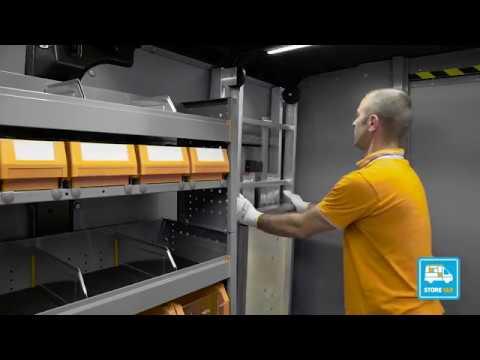 Scaffali Per Furgoni Prezzi.Sistema Di Fissaggio Degli Scaffali Per Furgoni Store Van