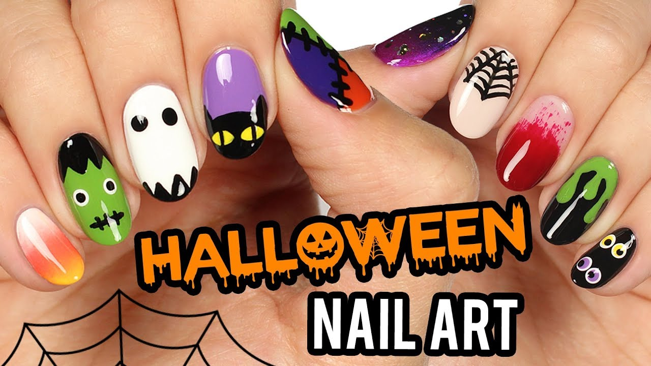 10 Halloween Nail Art Designs The Ultimate Guide 2018 Youtube