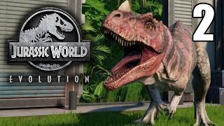 Our First Carnivore and Dino Escape! - Jurassic World Evolution Gameplay - Part 2