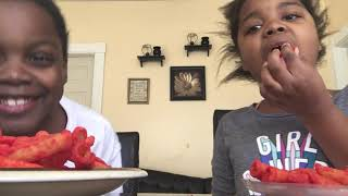 Takis and hot fries challenge