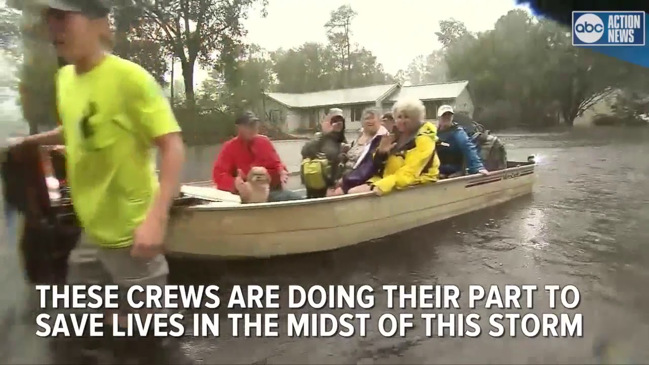 Rescue crews work to save lives in Hurricane Florence ...