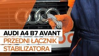 Montaż Drążek wspornik stabilizator przednie prawy AUDI A4: instrukcje wideo