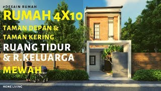 Home Living - Desain Rumah Tinggal 4x10