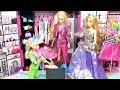 Barbie princess bedroom pink dream house Rapunzel Elsa fashion dress up clothes dance surprise box