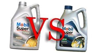 Mobil 5w40 super 3000 x1 vs Mobil 15w40 super 1000 x1 cold oil test -24°C, synthetic vs mineral