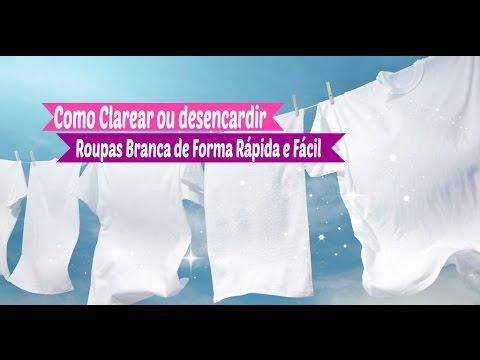 lavar roupas branca