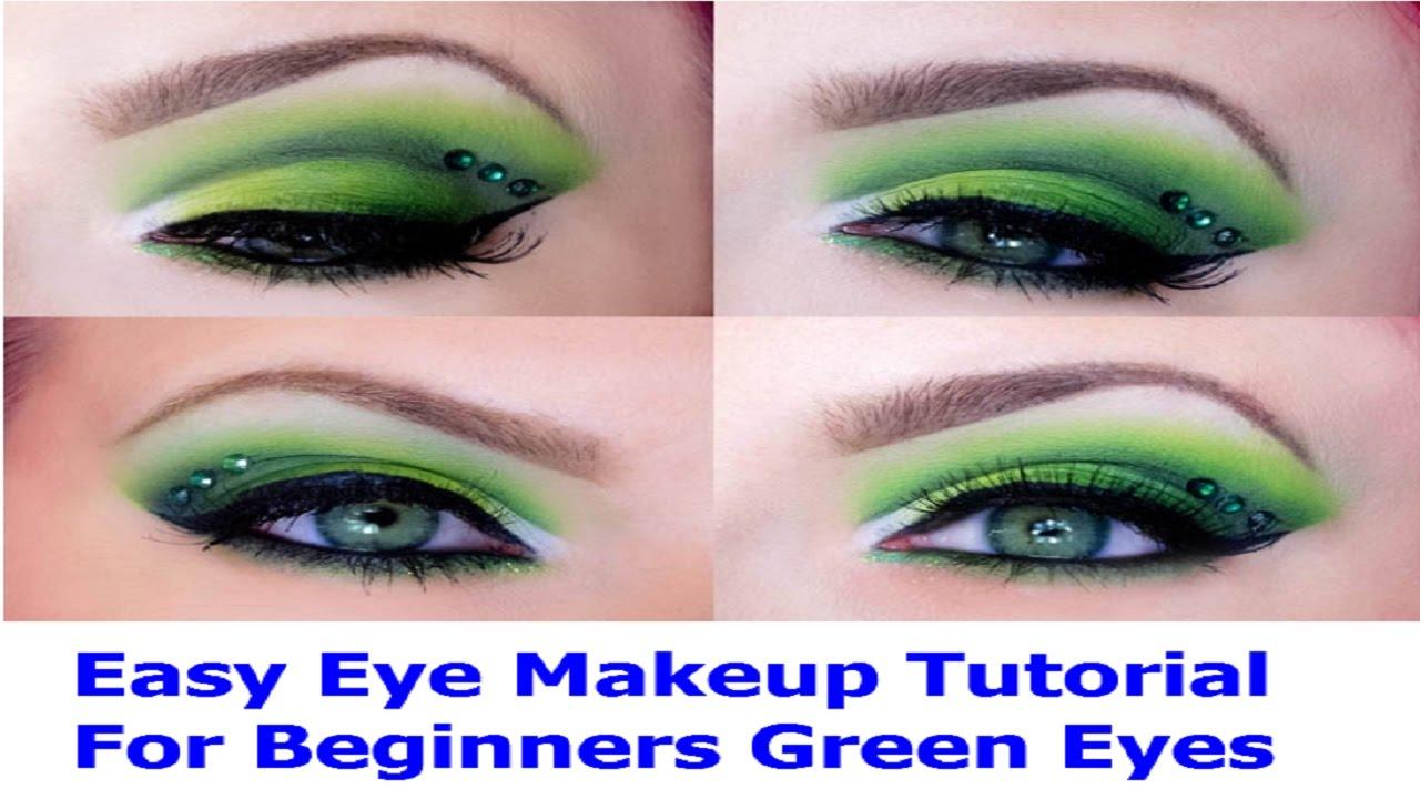 Makeup tutorial for green eyes