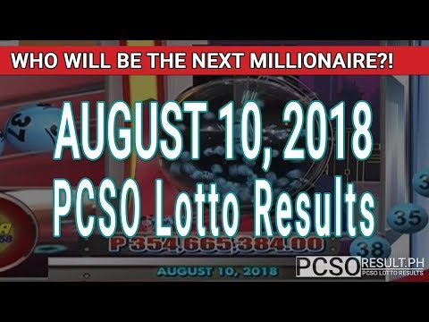 PCSO Lotto Results Today August 10, 2018 (6/58, 6/45, 4D, Swertres, STL & EZ2)