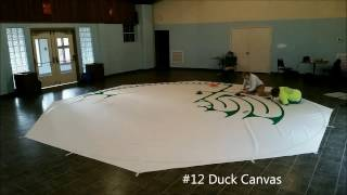 One Minute: Painting a Canvas Labyrinth