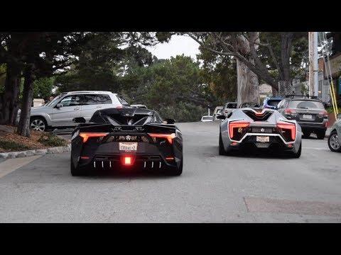 W Motors Lykan Hypersport & Fenyr Supersport Driving in Carmel – Car Week 2018