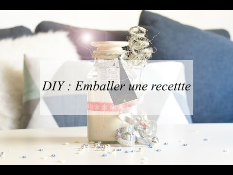 diy emballer une recette id e cadeau no l youtube. Black Bedroom Furniture Sets. Home Design Ideas