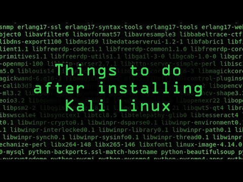 How To: Top 10 Things to Do After Installing Kali Linux