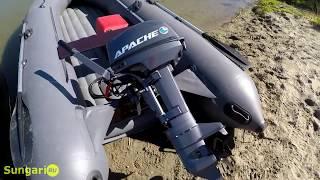 Розпакування та обкатка човнового мотора Apache 9.8 л. с. Новинка від Майстер човнів.