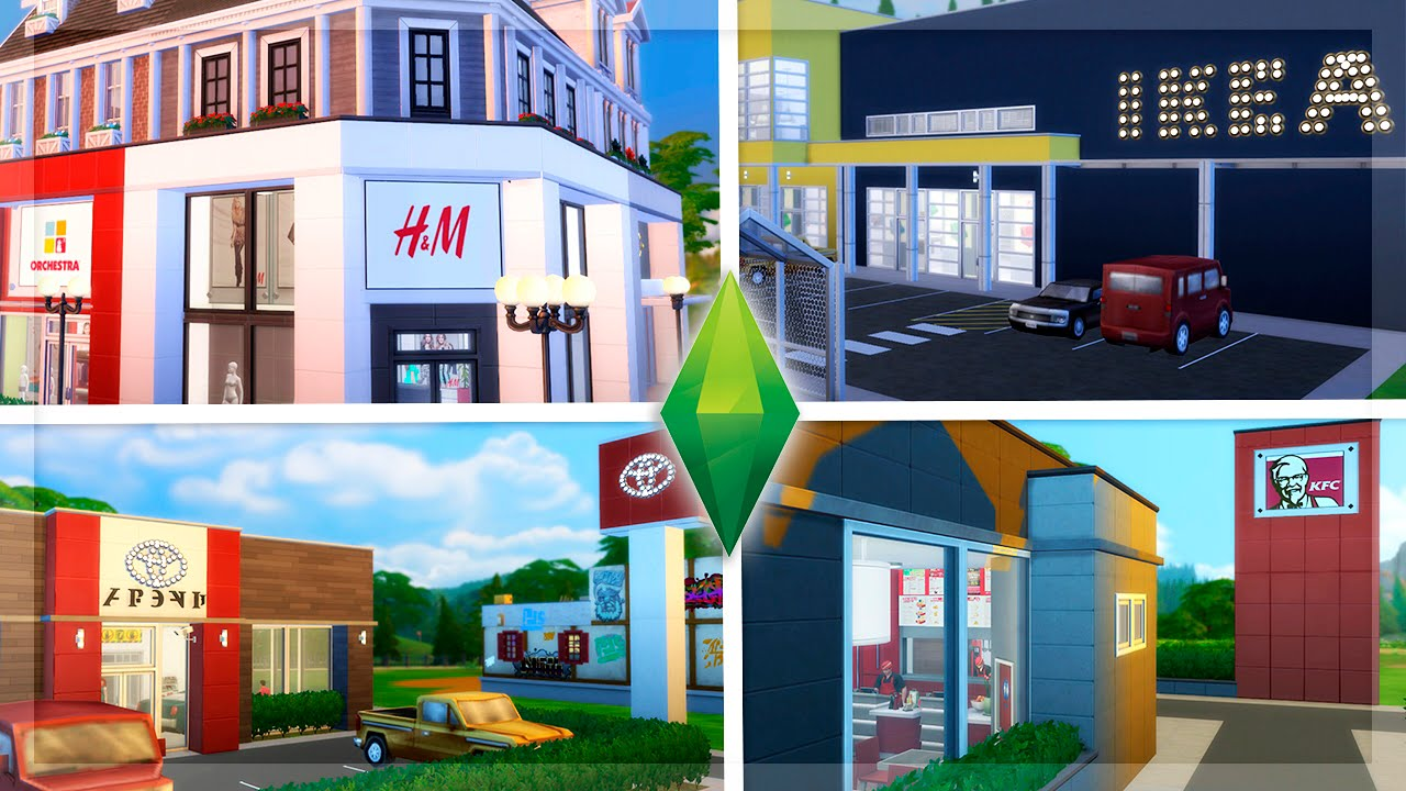IKEA, H&M, KFC, TOYOTA... INCREBLE!! | Los Sims 4 Reviews ...