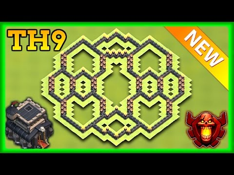 BEST TOWN HALL 9 (TH9) HYBIRD BASE 2017 | TH9 TROPHY / FARMING BASE 2017 | CLASH OF CLANS