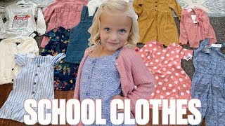 BACK TO SCHOOL CLOTHES SHOPPING | GETTING READY FOR THE FIRST DAY OF PRESCHOOL | SCHOOL CLOTHES HAUL