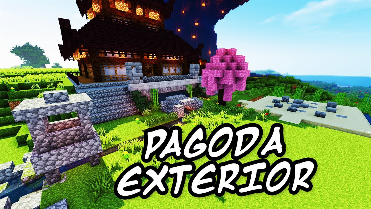 minecraft tutorials minecraft tutorial 27 how to build the japanese pagoda exterior hd youtube