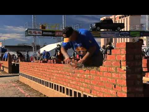 World brick laying championship 2012 LAS VEGAS  MIKE AMOR