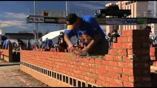 World brick laying championship 2012 LAS VEGAS - MIKE AMOR
