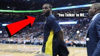 Talking Smack to NBA Players! My First Courtside NBA Game EVER!