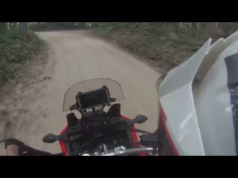 2016 Honda Africa Twin CRF1000l  low speed crash and go