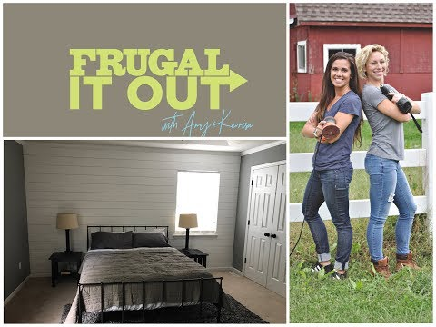 """How I """"Shiplapped"""" my bedroom wall for under $45!"""