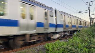 【1日1往復の運用】E531系5+5併結運転、植田〜泉間を通過(ジョイント音付き)