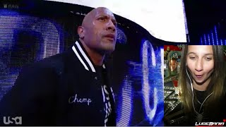 WWE Raw 10/6/14 THE ROCK RETURNS interrupts RUSEV Live Commentary