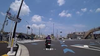 クロスバイク車載動画 東京メトロ千代田線綾瀬駅西口→つくばエクスプレス六町駅×1.8倍速