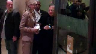 Larry King and his wife Shawn Southwick leaving Clive Davis 2012 Pre-GRAMMY Gala