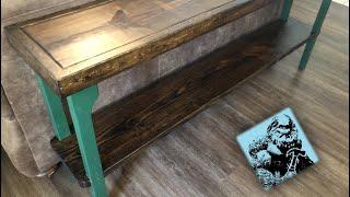DIY Sofa Table (Easy)