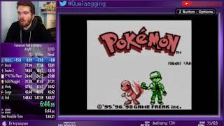 Pokemon Red Any% Glitchless in: 1:48:19