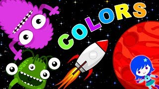 Learning Colors for Children Space Adventure Kids and Toddlers Educational Video with Space Game