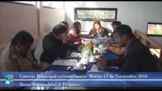 Concejo Municipal extraordinario, Martes 15 de Noviembre 2016