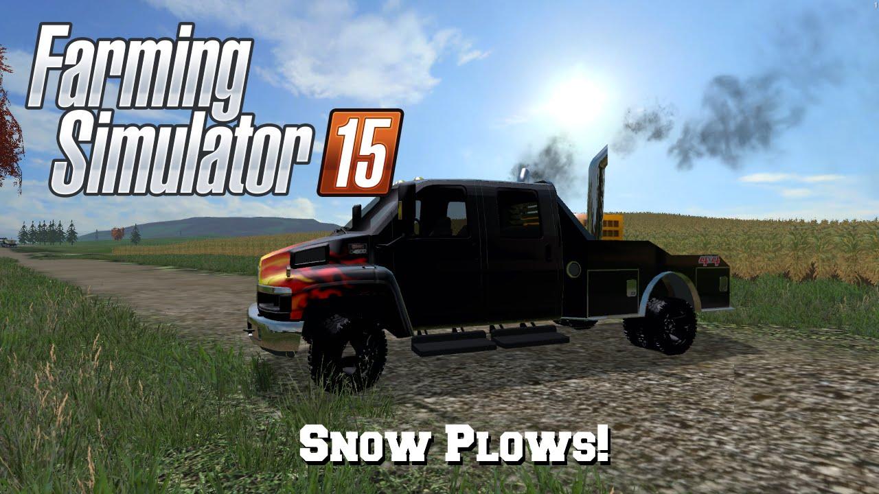 Fs15 S2 Mod Spotlight 6 Snow Plows Youtube