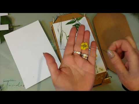 How to laminate pressed flowers at home (show and tell)