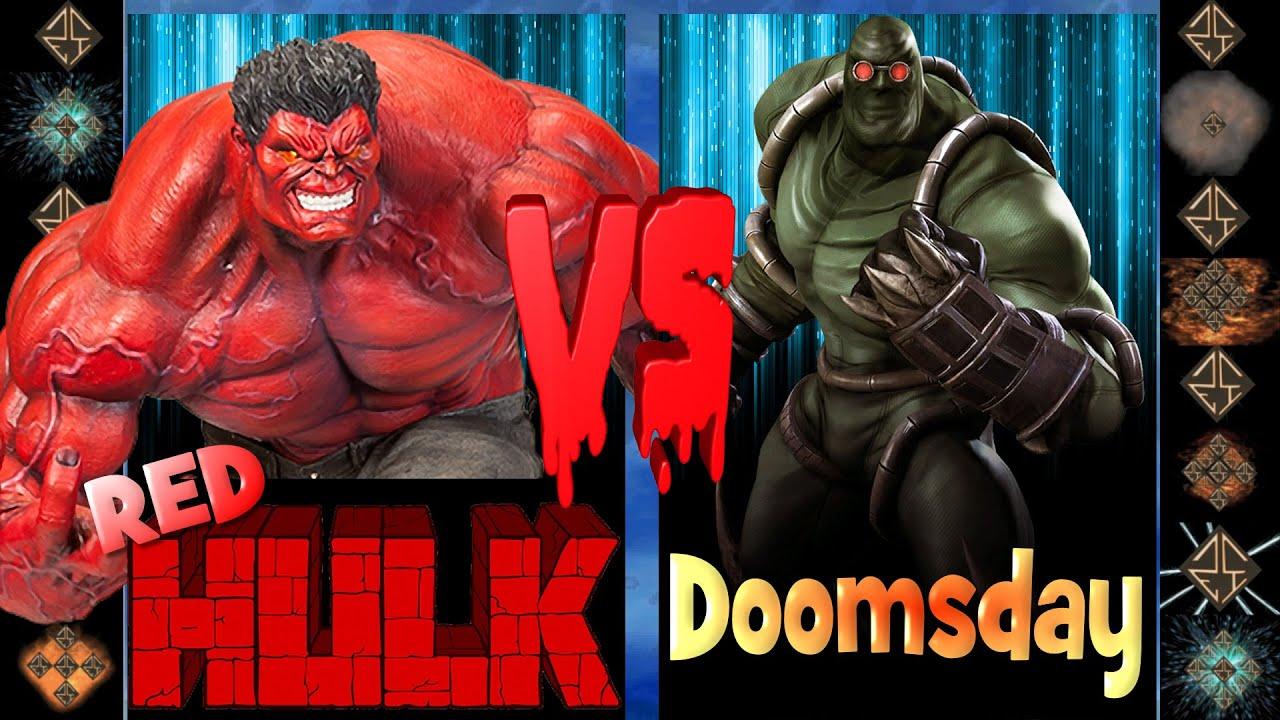 Red Hulk (Marvel Comics) vs Doomsday (DC Comics ... Red Hulk Vs Doomsday