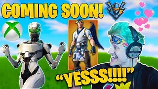 Ninja Reacts to his OWN Custom Skin SET and Xbox Exclusives COMING SOON!